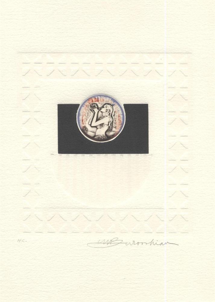 614: MARTIN BAROOSHIAN - Color intaglio etching with em