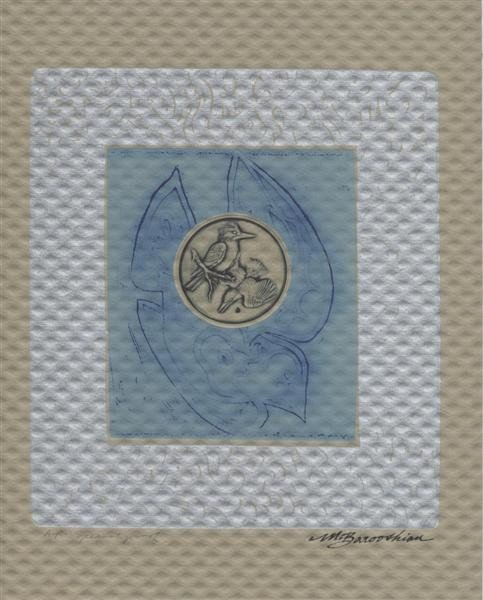 616: MARTIN BAROOSHIAN - Color intaglio etching with em