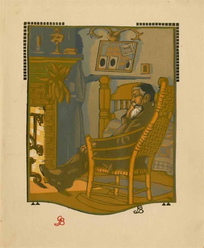 620: GUSTAVE BAUMANN - Original color woodcut