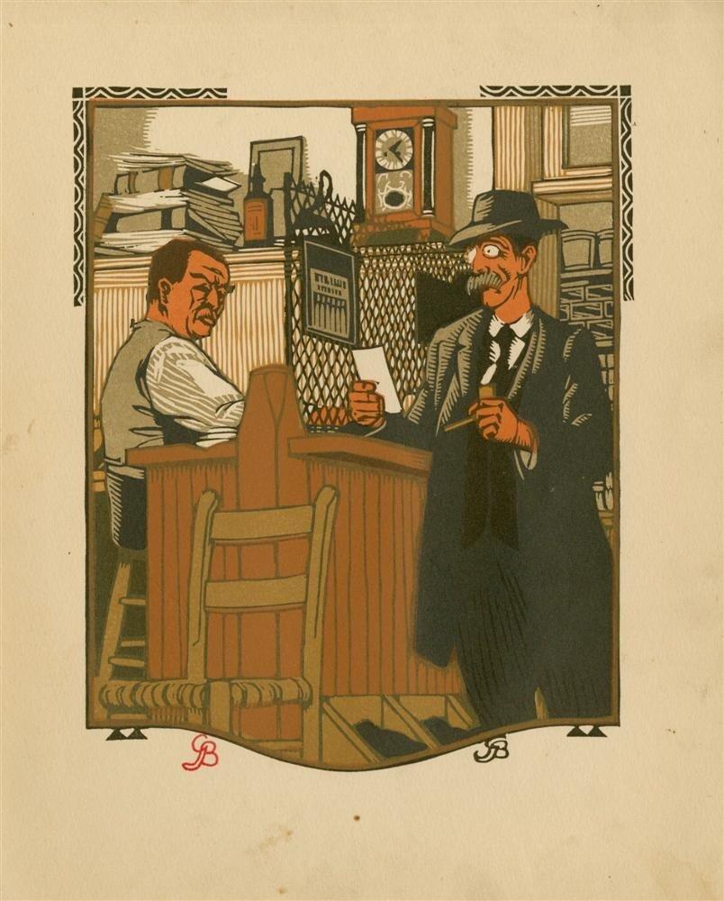625: GUSTAVE BAUMANN - Original color woodcut