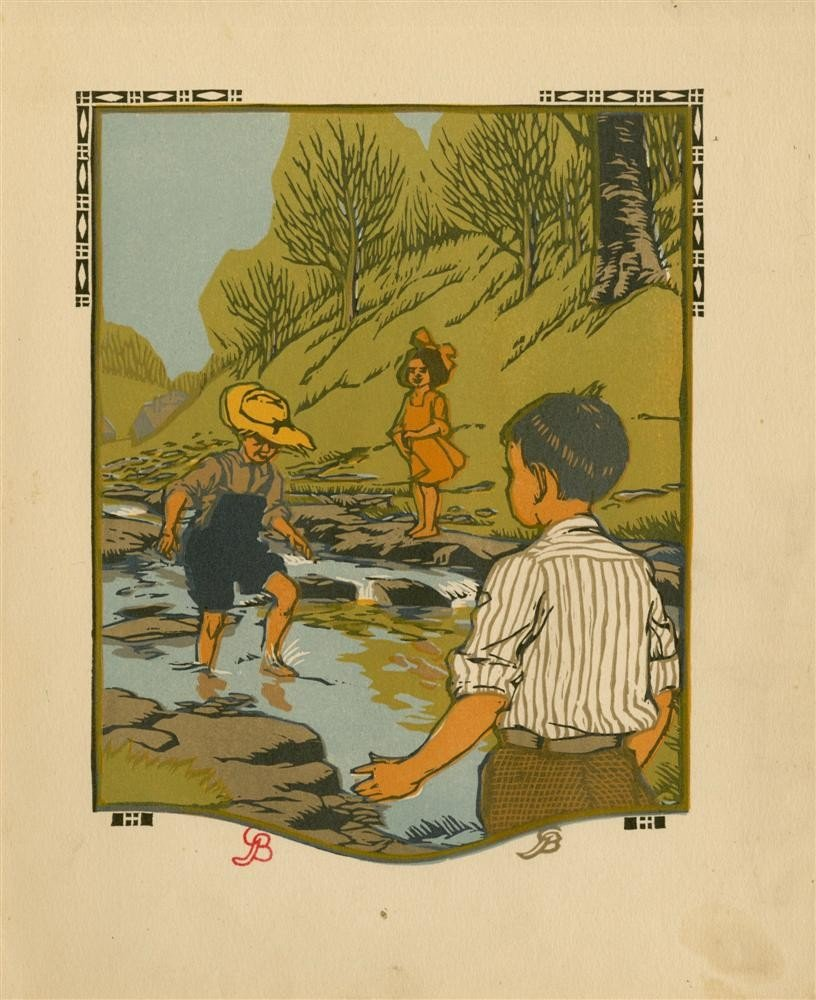 626: GUSTAVE BAUMANN - Original color woodcut