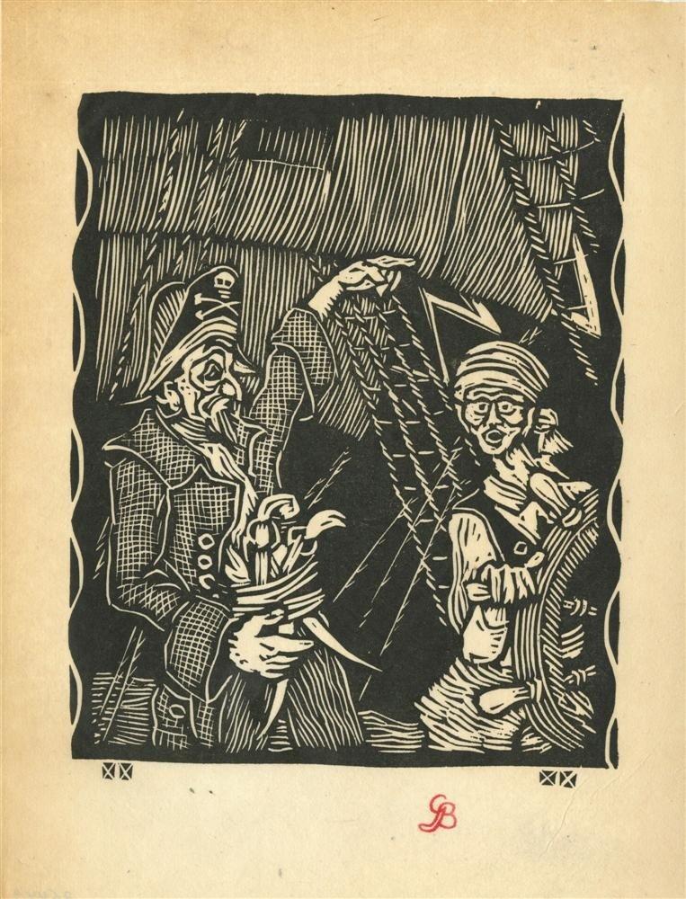 629: GUSTAVE BAUMANN - Original woodcut