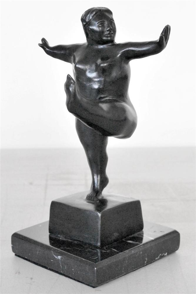 1084: FERNANDO BOTERO [ATTRIB] - Bronze sculpture with