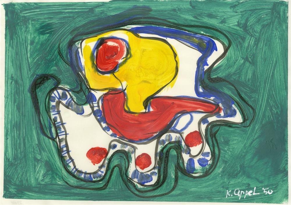 11: KAREL APPEL - Oil on paper