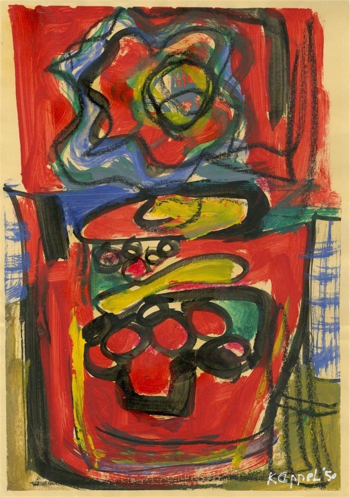 12: KAREL APPEL - Oil on paper