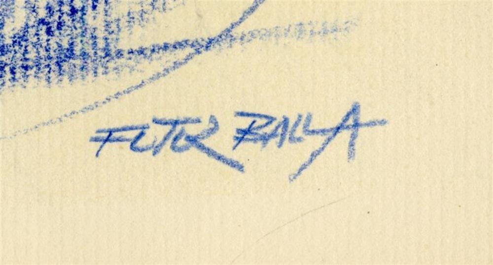 18: GIACOMO BALLA - Original color pencil drawing - 3