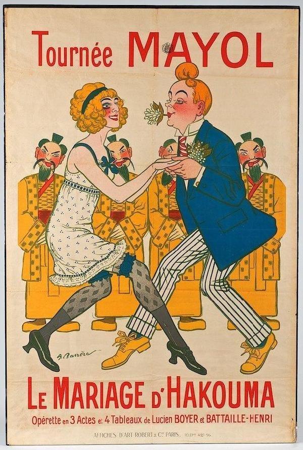 20: ADRIEN BARRERE - Original vintage color lithograph