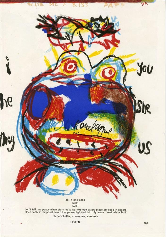 592: KAREL APPEL - Color lithograph