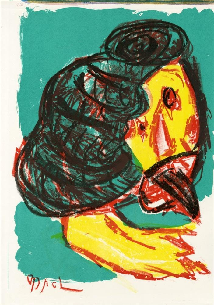 593: KAREL APPEL - Color lithograph