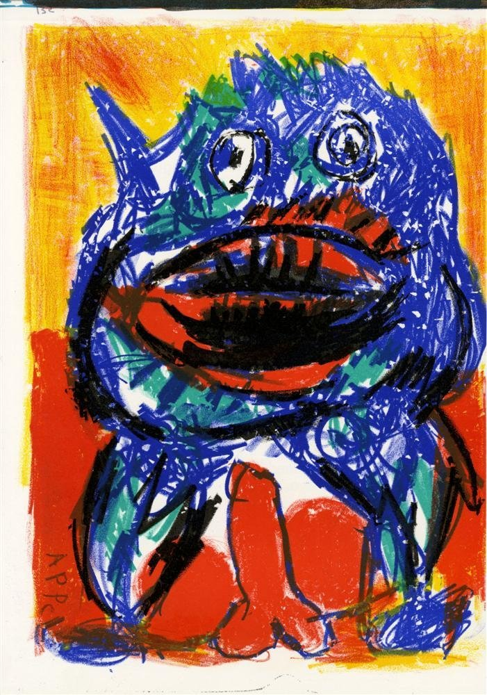595: KAREL APPEL - Color lithograph