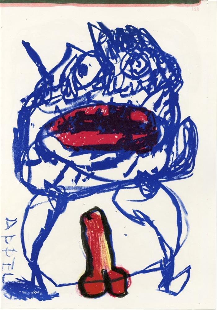 596: KAREL APPEL - Color lithograph