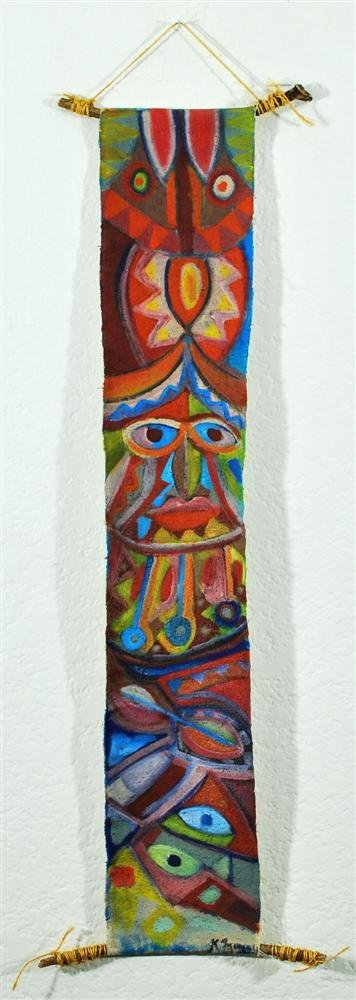 1142: KARIMA MUYAES - Oil and pigments on canvas