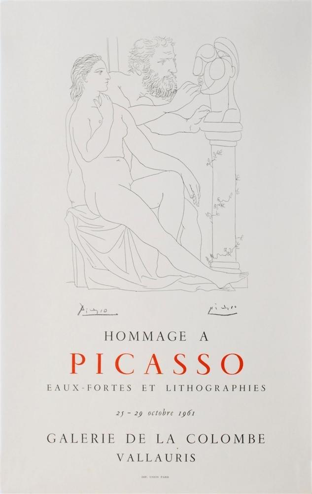 1202: PABLO PICASSO - Color letterpress poster