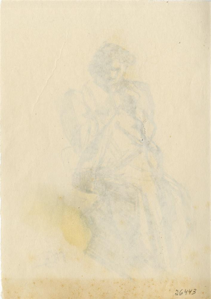 46: UMBERTO BOCCIONI - Original charcoal drawing - 2