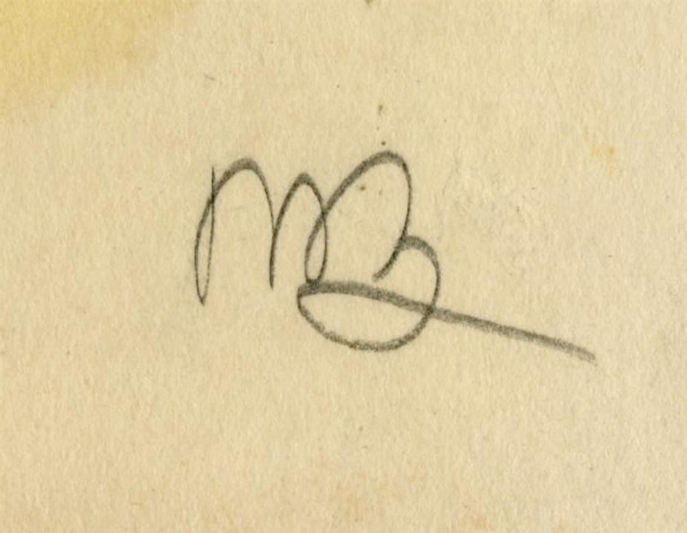 46: UMBERTO BOCCIONI - Original charcoal drawing - 3
