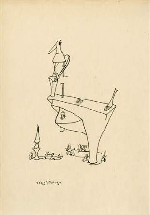 537: YVES TANGUY - Pen and ink drawing