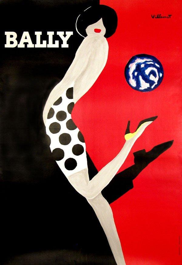 554: BERNARD VILLEMOT - Original vintage color lithogra