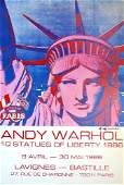 557 ANDY WARHOL  Color offset lithograph poster
