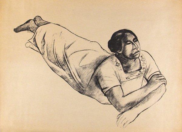 723: RAUL ANGUIANO - Lithograph