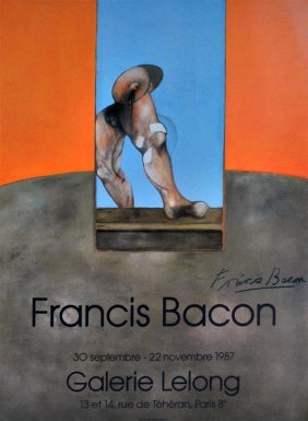 FRANCIS BACON - Original Color Offset Lithograph P