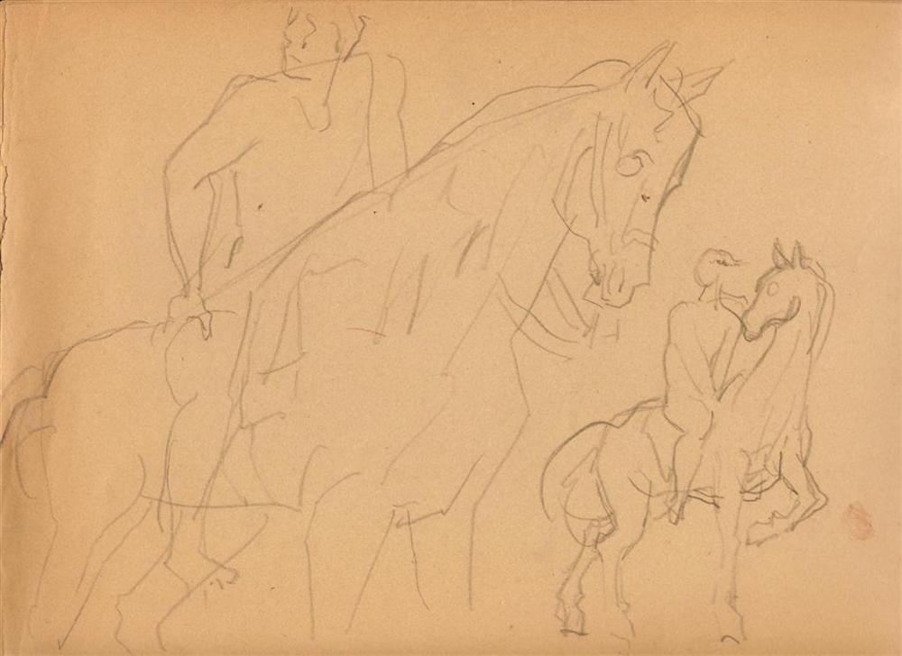735: SANTOS BALMORI - Original pencil drawing