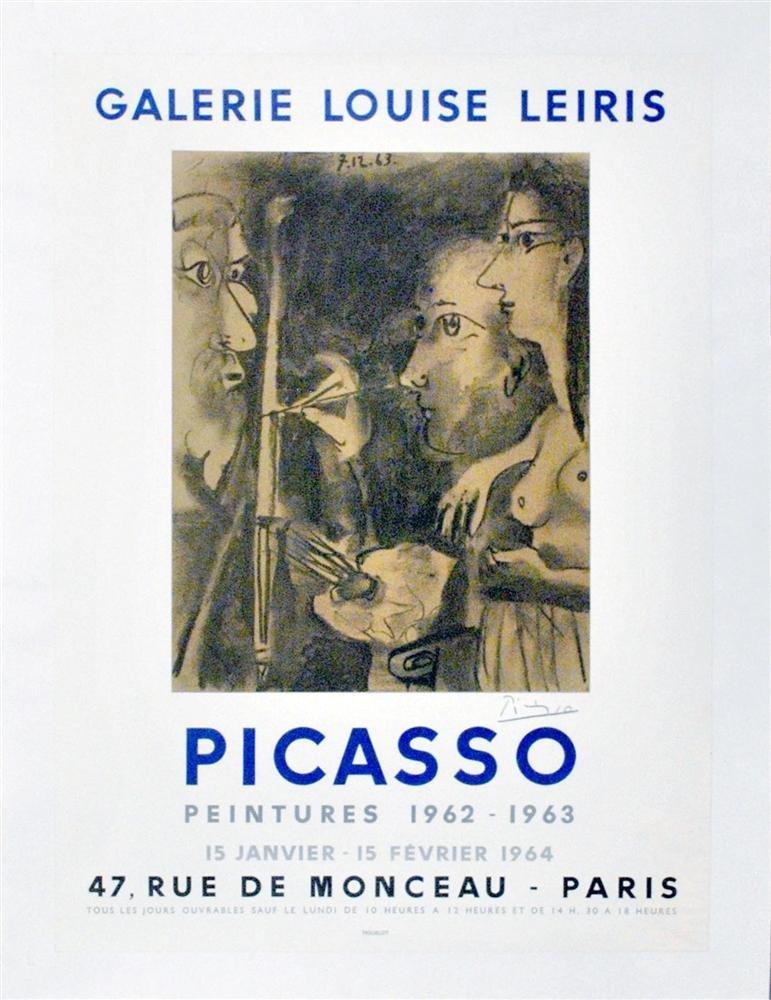 1250: PABLO PICASSO - Color lithograph and collotype po