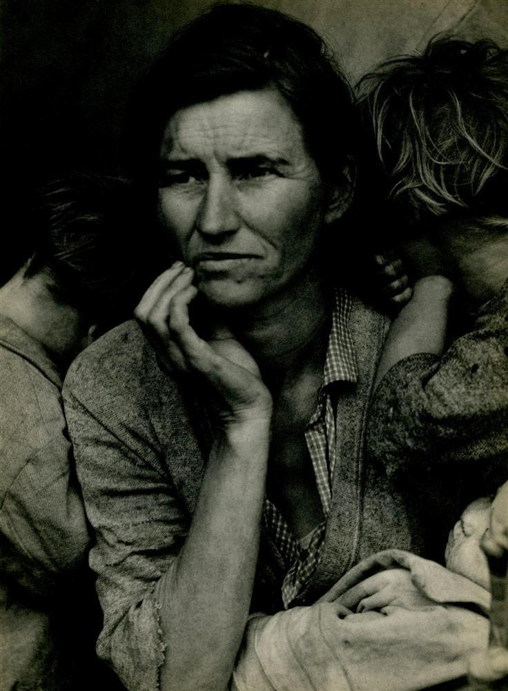 1014: DOROTHEA LANGE - Original vintage photogravure