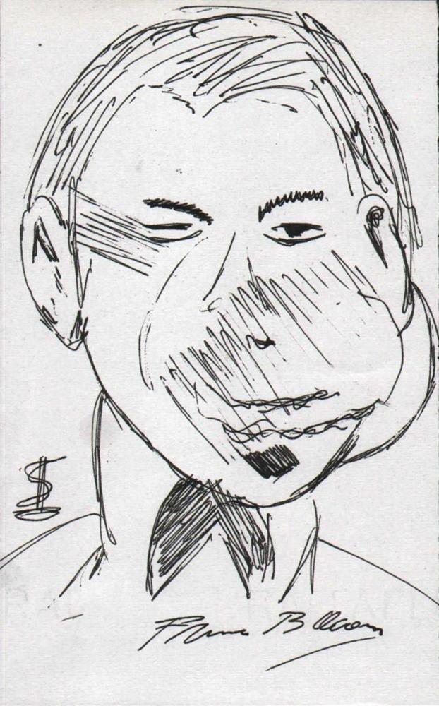 17: FRANCIS BACON [ATTRIB] - Pen and ink drawing