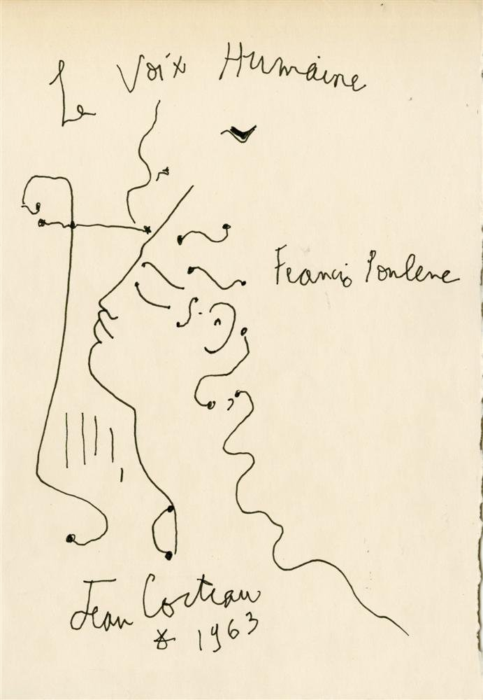 77: JEAN COCTEAU - Pen and ink drawing