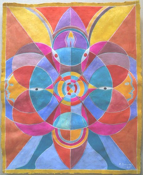 323: KARIMA MUYAES - Gouache on paper