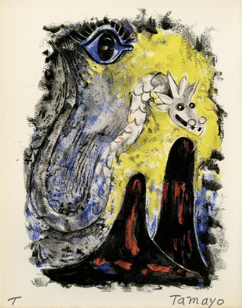 523: RUFINO TAMAYO - Color lithograph