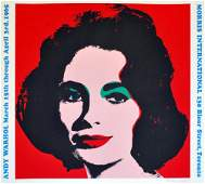 555 ANDY WARHOL  Color offset lithograph poster