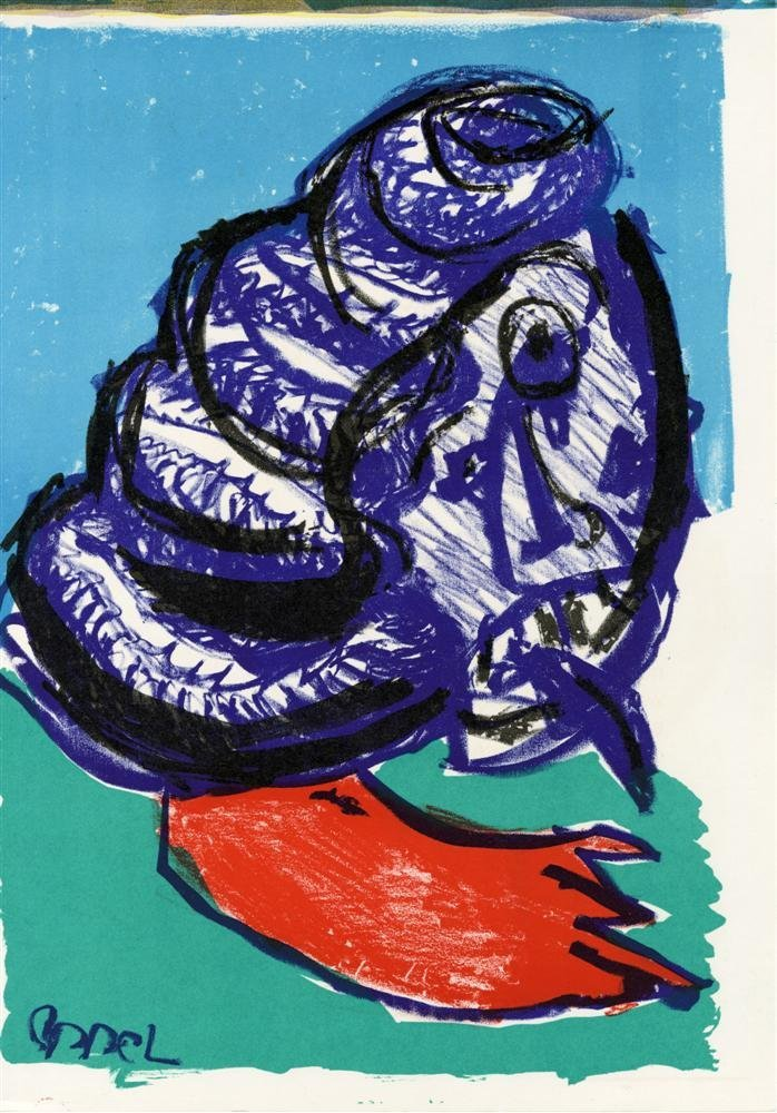 635: KAREL APPEL - Color lithograph