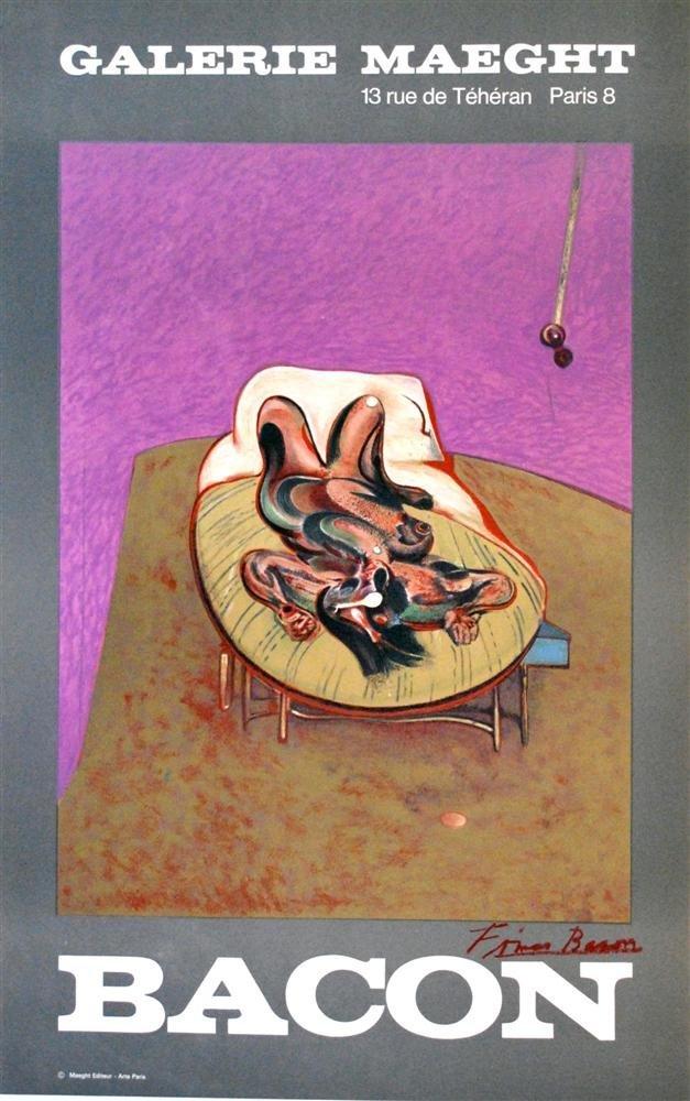 20: FRANCIS BACON - Original color lithograph poster