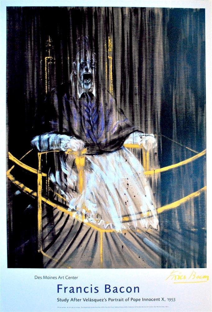 21: FRANCIS BACON - Original color offset lithograph po