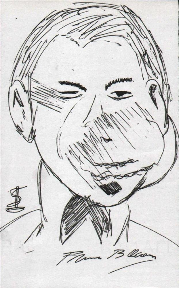 22: FRANCIS BACON [ATTRIB] - Pen and ink drawing