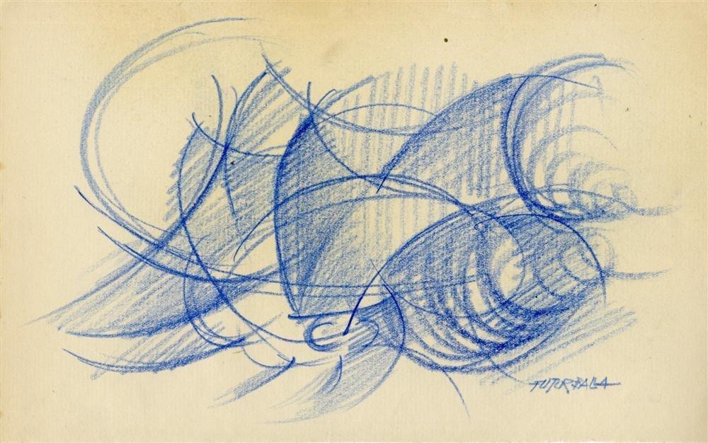 23: GIACOMO BALLA - Original color pencil drawing