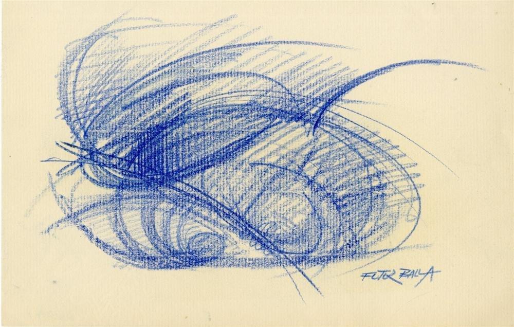 24: GIACOMO BALLA - Original color pencil drawing