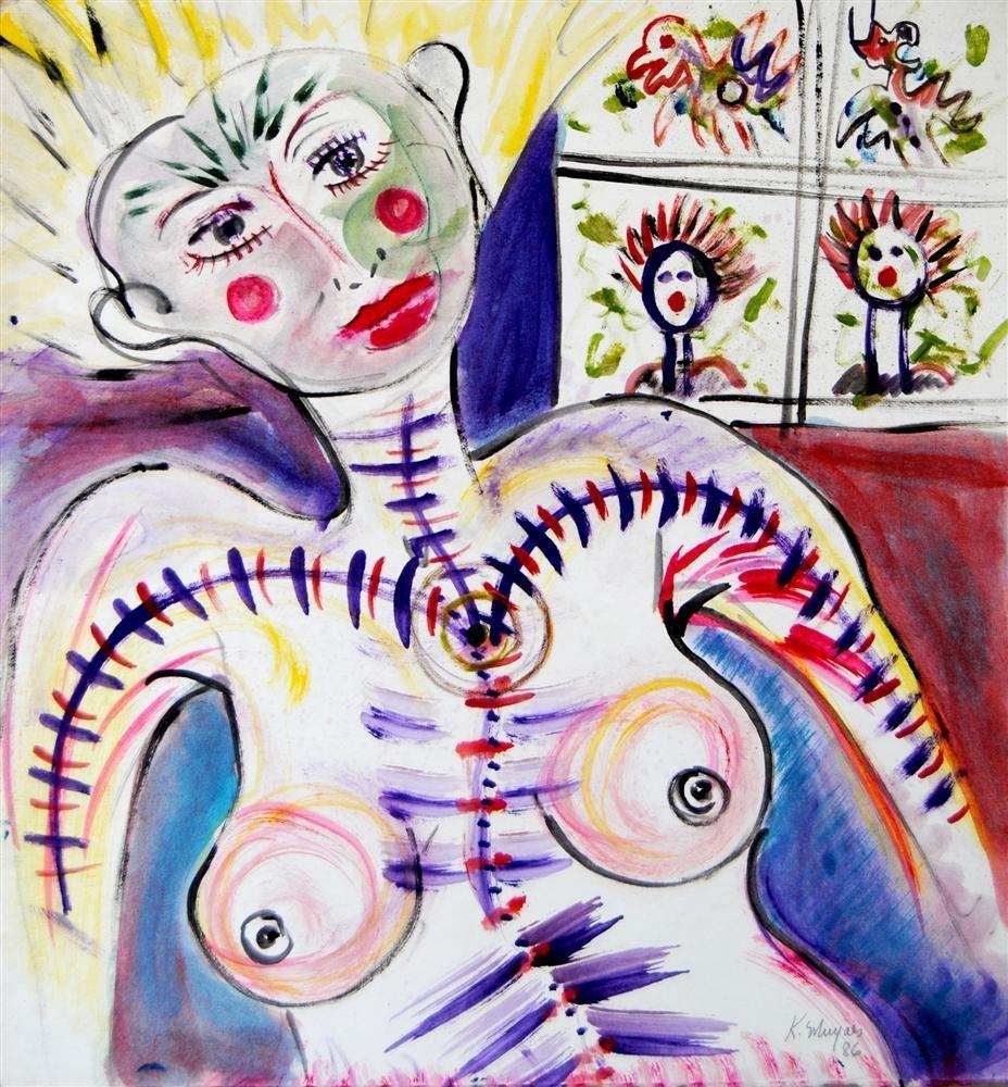 455: KARIMA MUYAES - Oil on paper