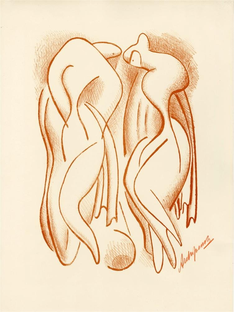 ALEXANDER ARCHIPENKO - Original color lithograph