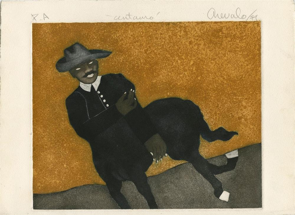JAVIER AREVALO - Color etching and aquatint