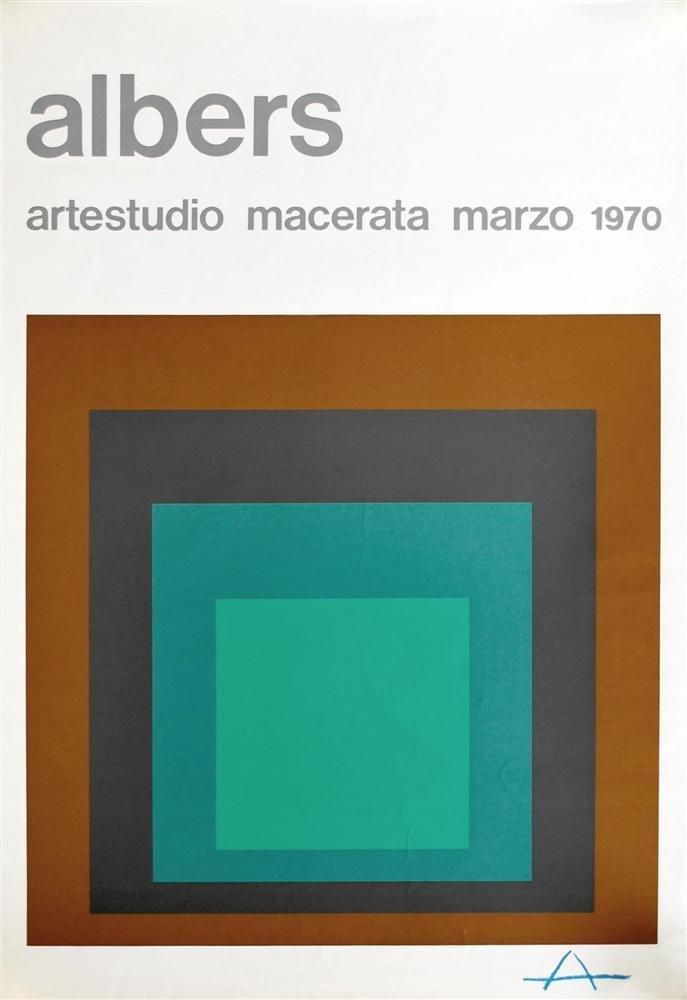 6: JOSEF ALBERS - Original color silkscreen
