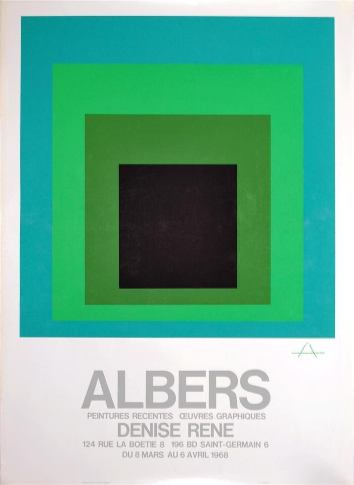 7: JOSEF ALBERS - Original color silkscreen