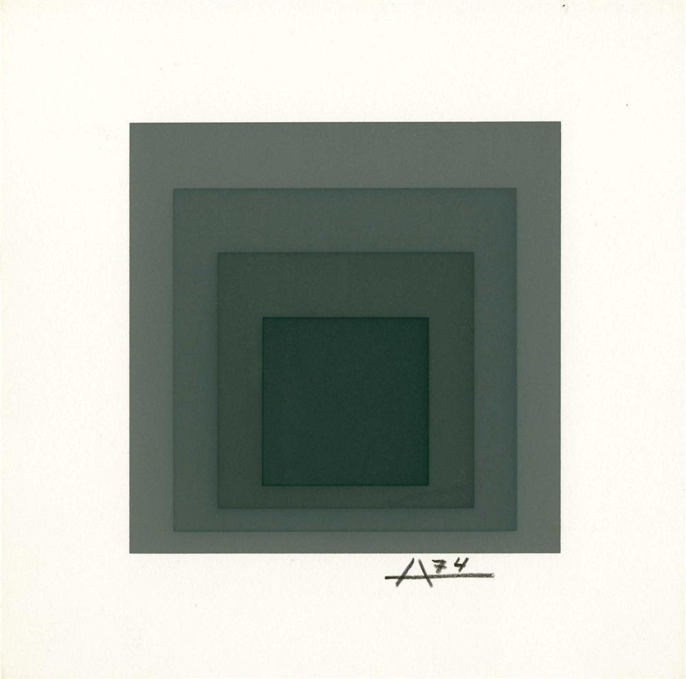 8: JOSEF ALBERS - Original color silkscreen