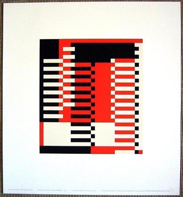 12: JOSEF ALBERS - Original color silkscreen