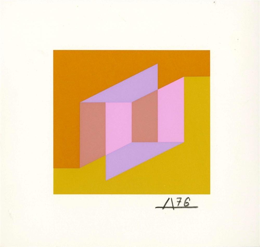 13: JOSEF ALBERS - Original color silkscreen