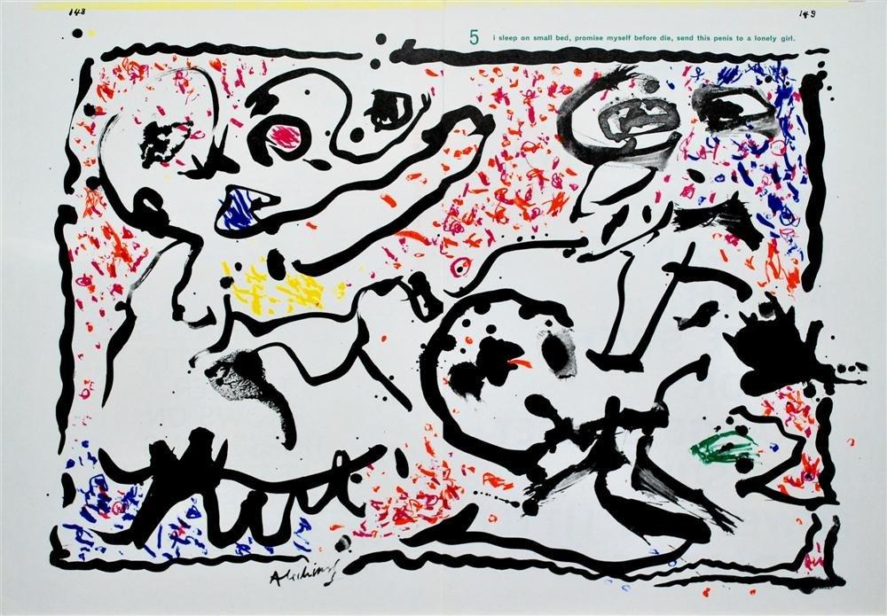 16: PIERRE ALECHINSKY - Color lithograph