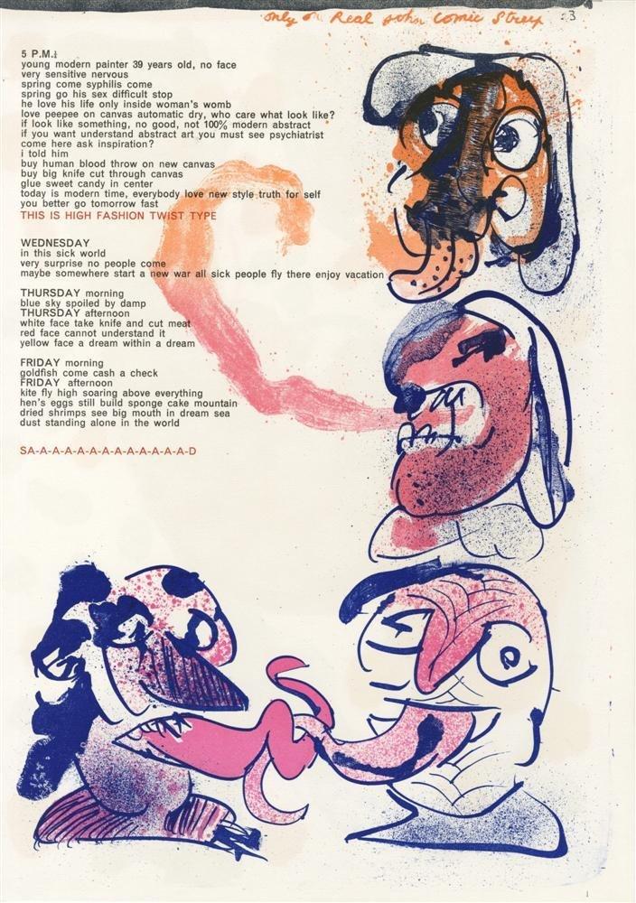 17: PIERRE ALECHINSKY - Color lithograph
