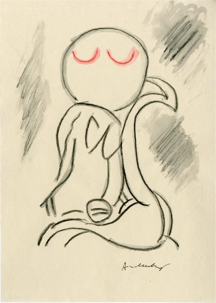 19: PIERRE ALECHINSKY - Original watercolor and pencil
