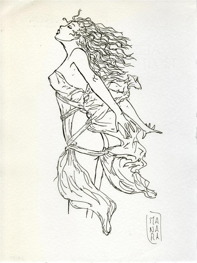 802: MILO MANARA - Pen and ink drawing on paper